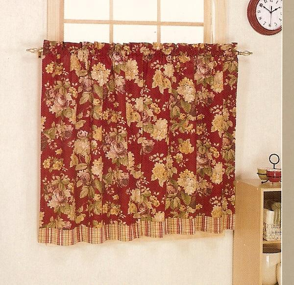 Image of: floral kitchen drapes
