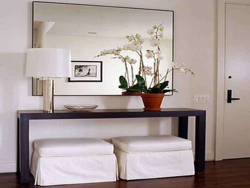 Image of: foyer table and mirror set