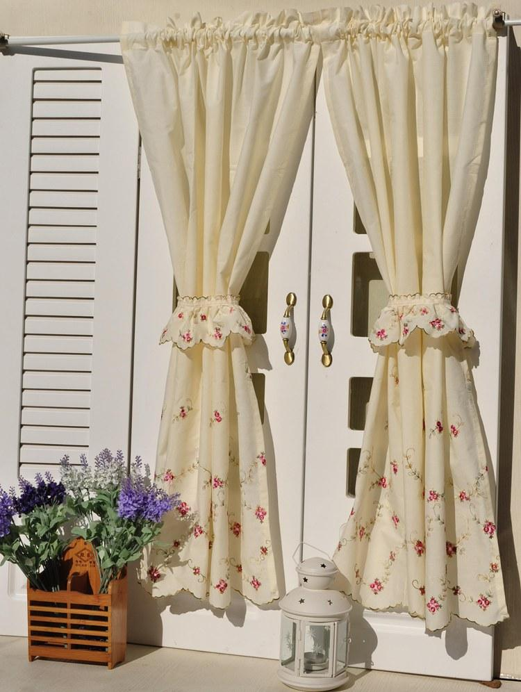 Image of: french kitchen drapes