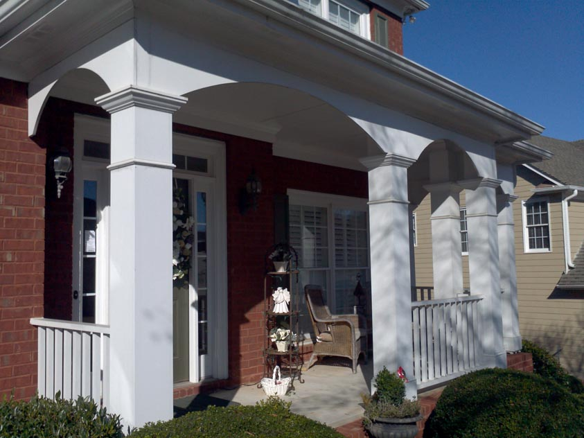 Image of: front porch arch design
