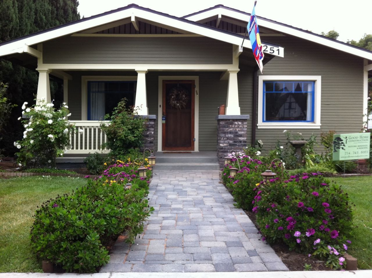 Image of: front porch designs craftsman style