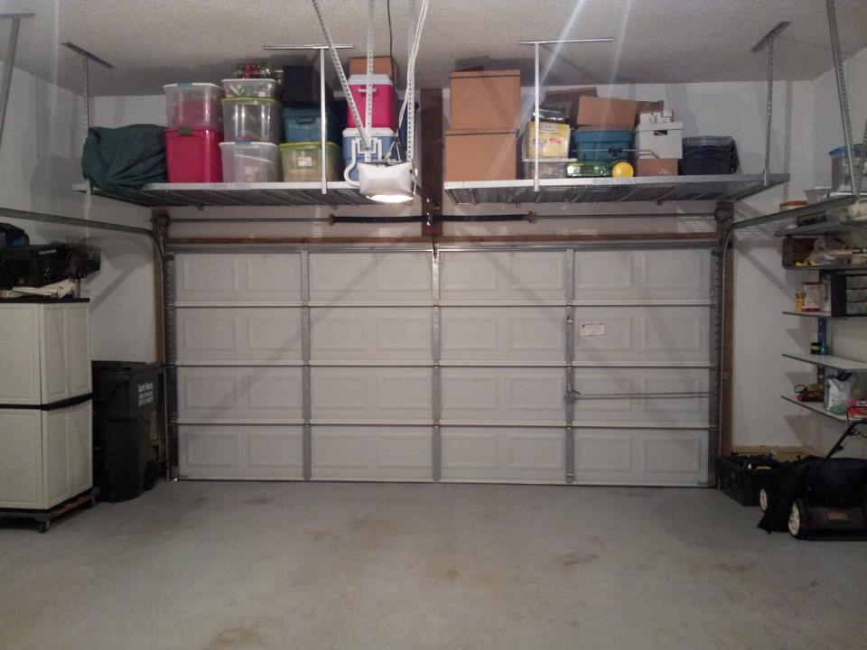 Image of: garage storage ideas above garage door