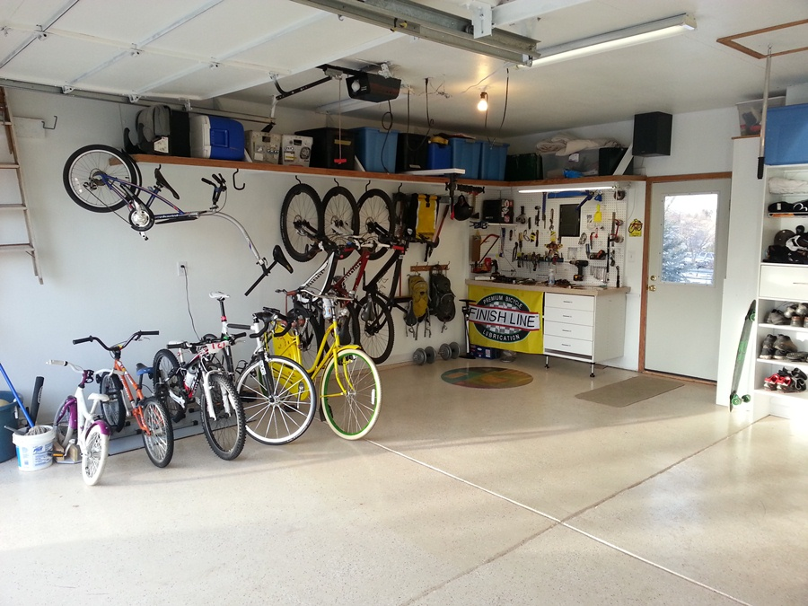 Image of: garage storage ideas for bikes
