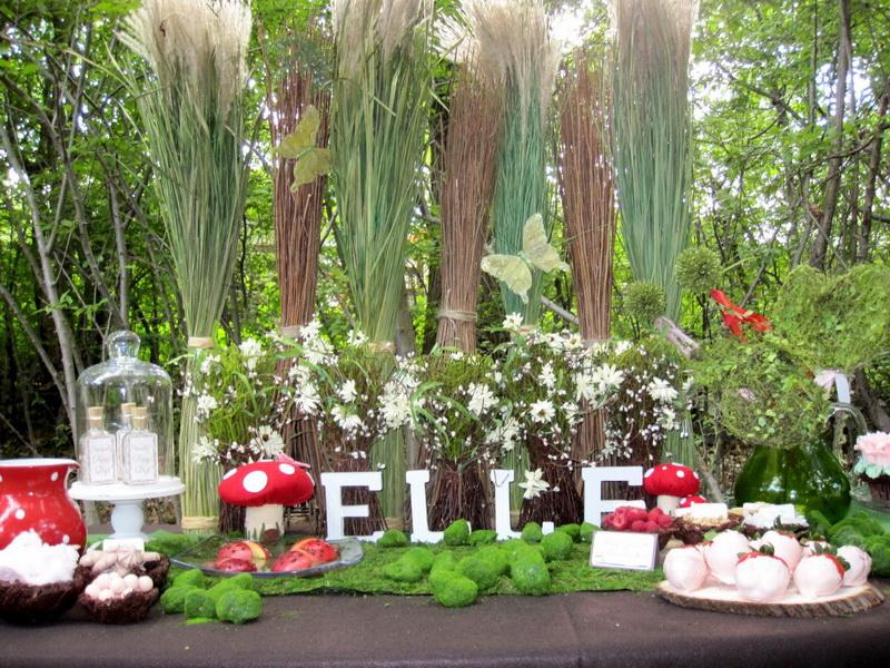 Image of: garden party table decor ideas