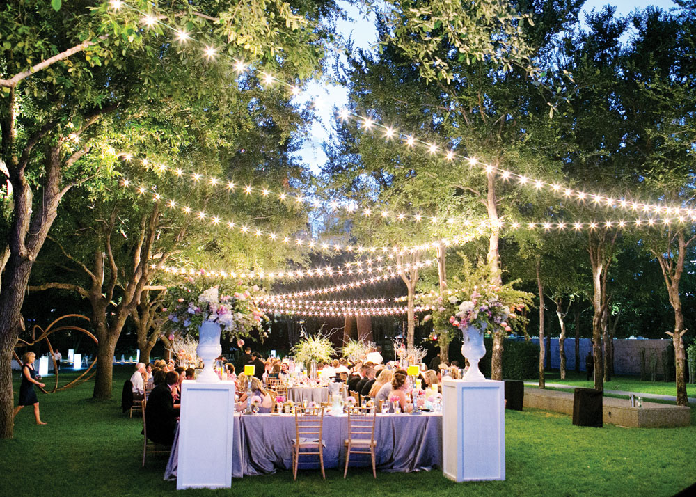 Image of: garden wedding reception decor
