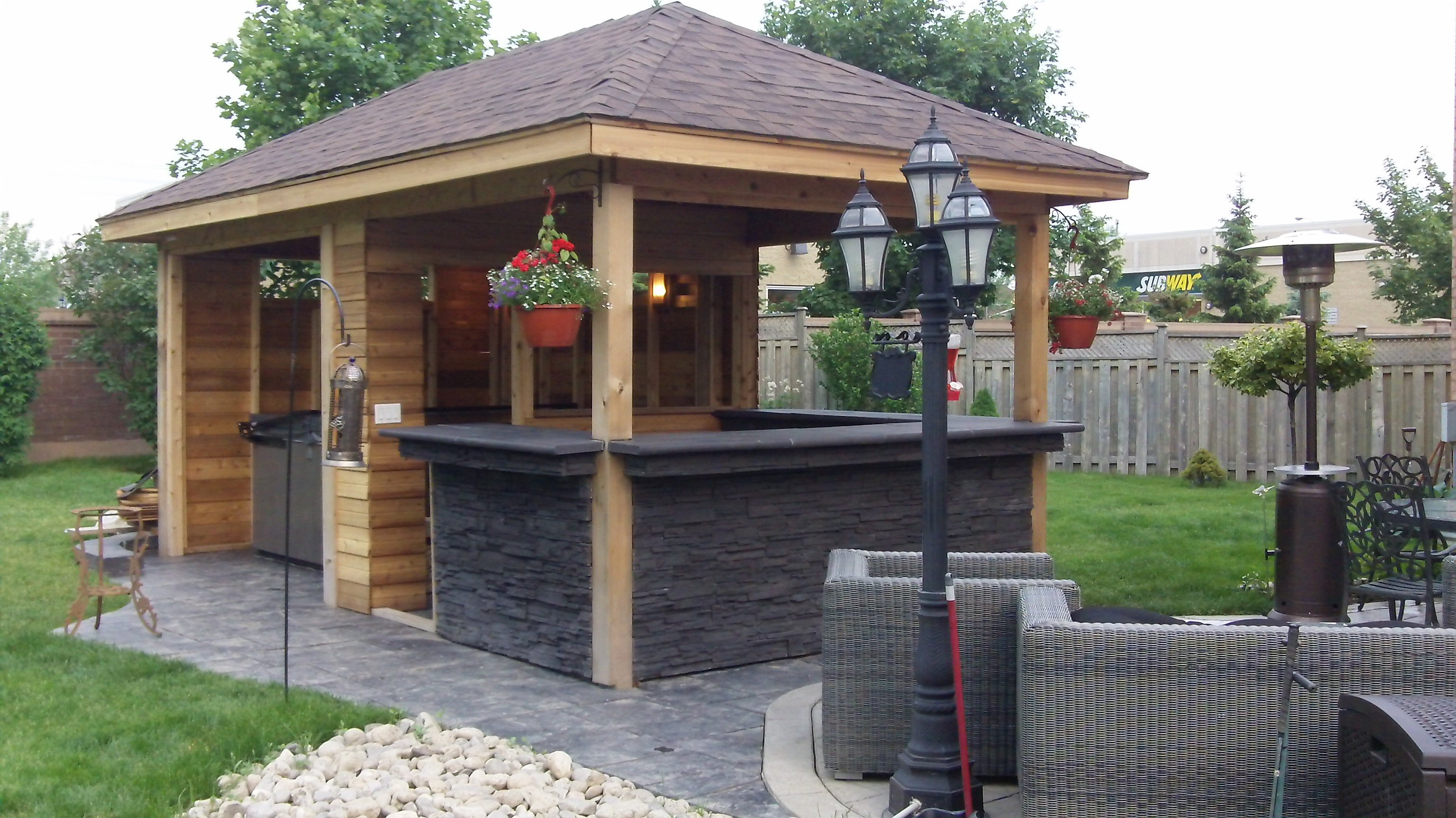 Image of: gazebo bar designs