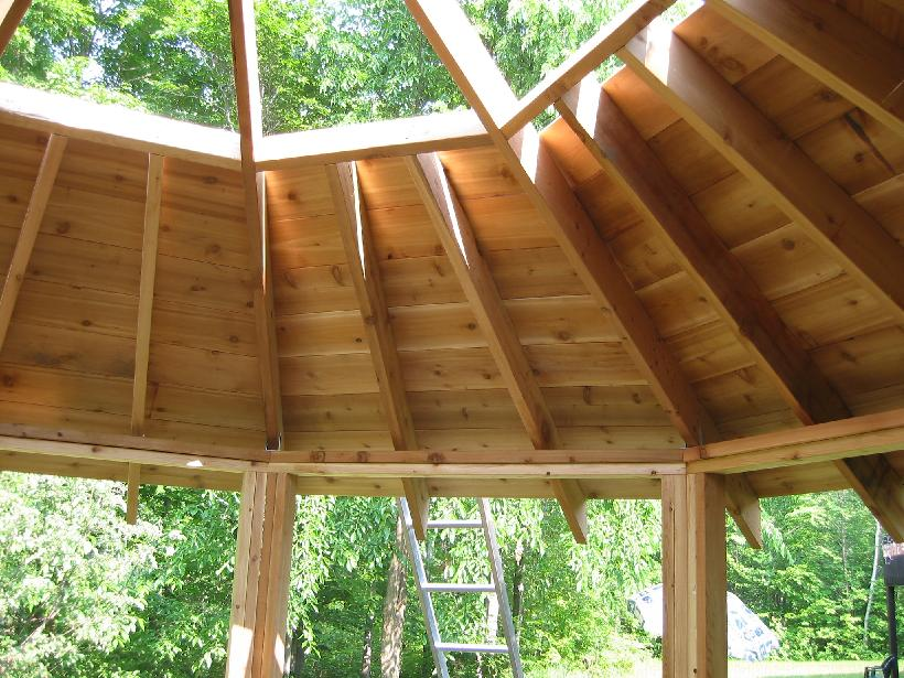 Image of: gazebo roof designs