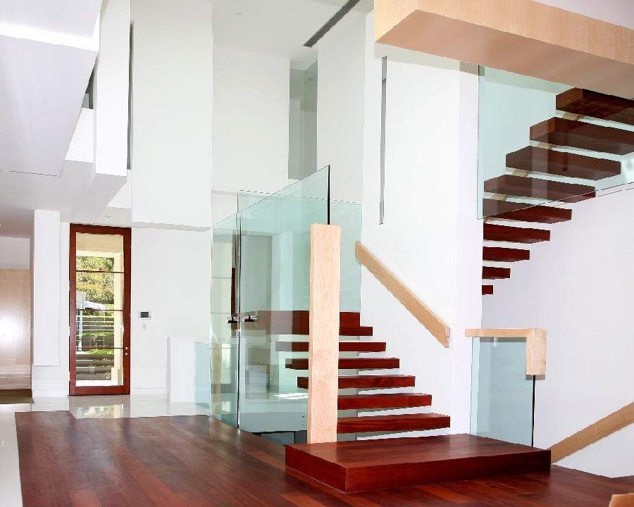 Image of: glass staircase ideas
