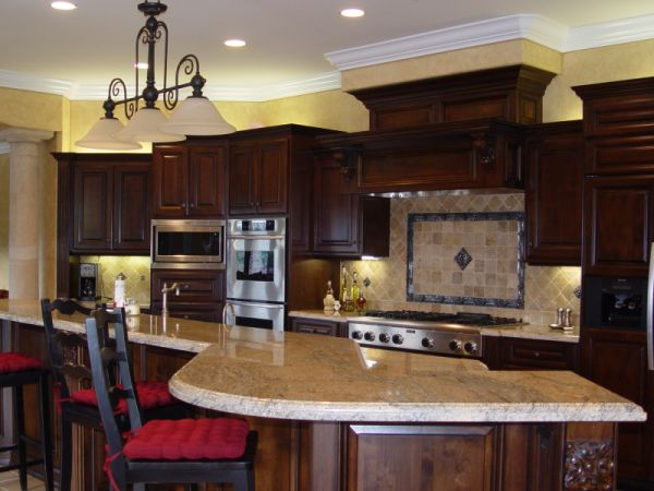 Image of: granite kitchen cabinets