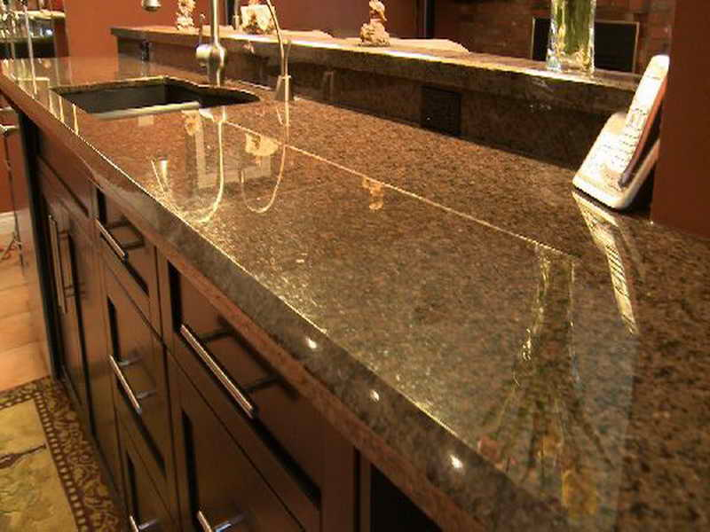 Image of: granite kitchen care