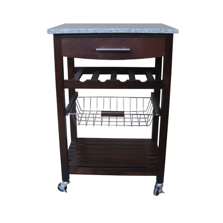 Image of: granite kitchen cart