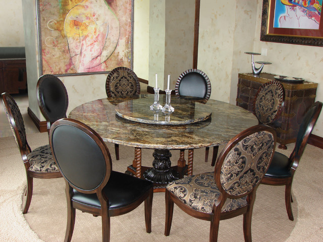 Image of: granite kitchen dining sets