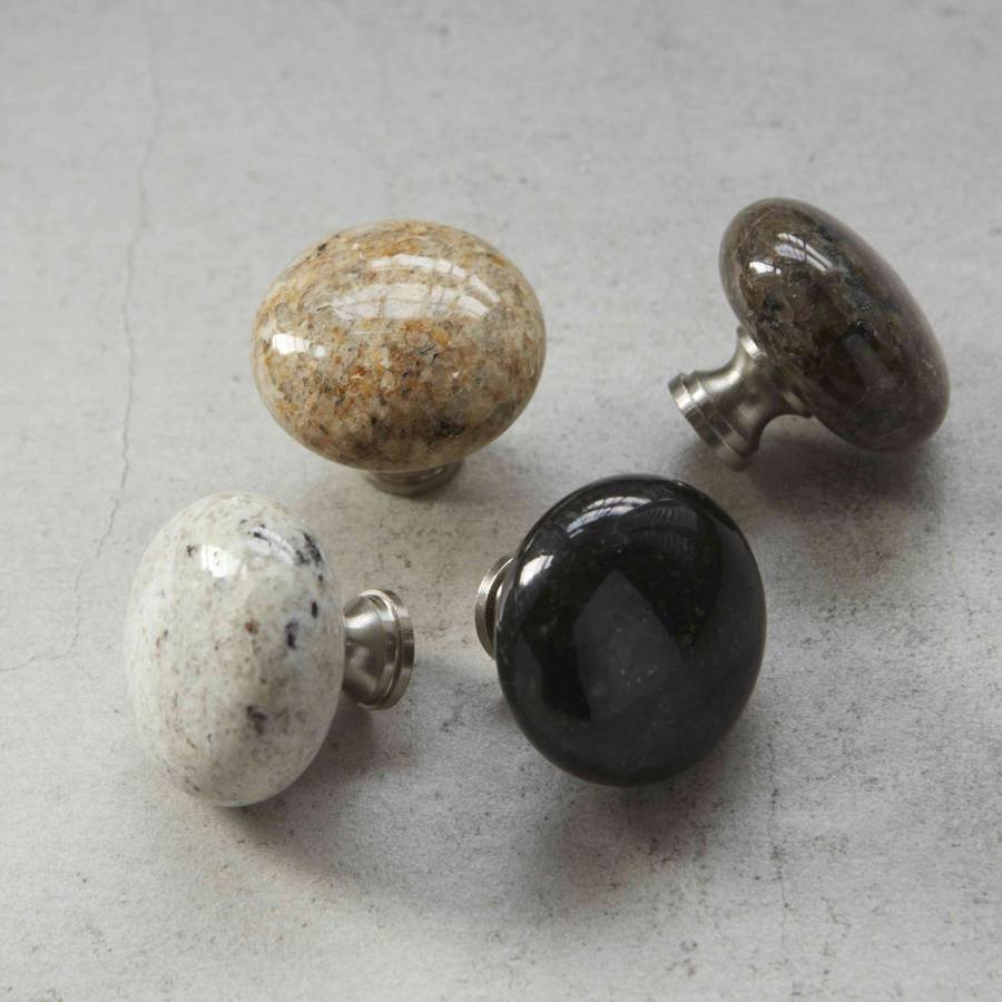 Image of: granite kitchen door knobs