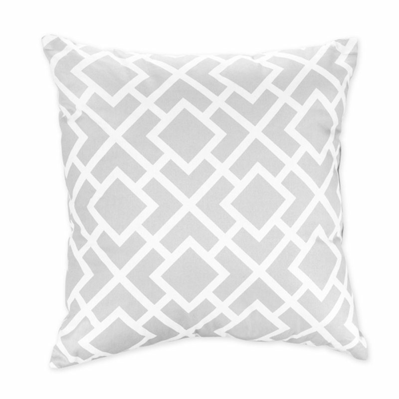 Image of: gray and white decorative pillows