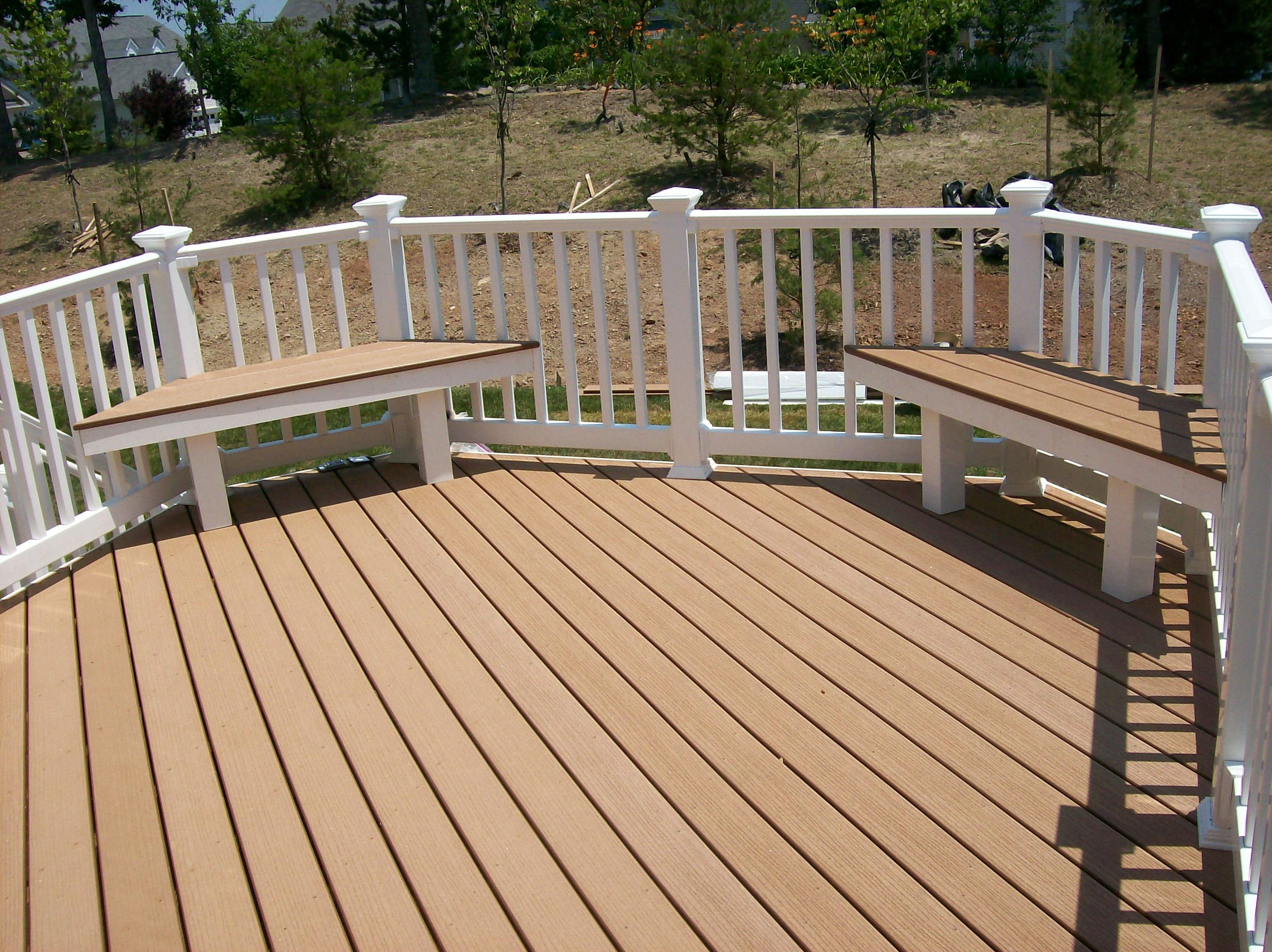 Image of: handrail design for a deck