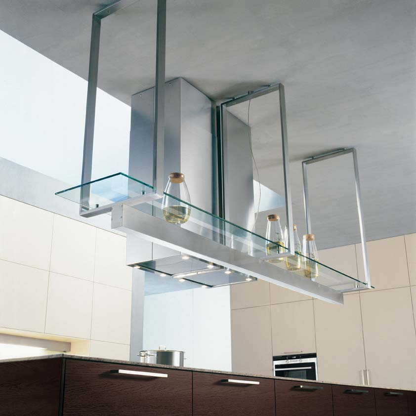 Image of: hanging metal kitchen shelves