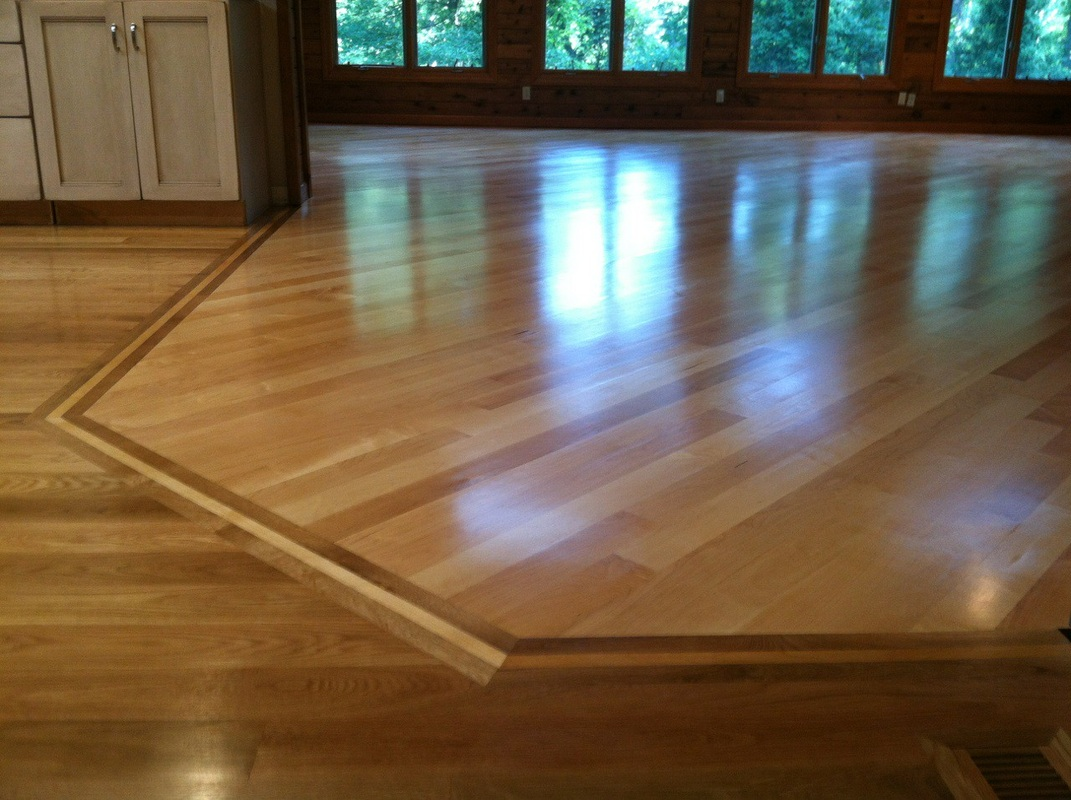 Image of: hardwood floor border designs