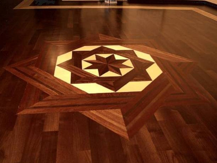 Image of: hardwood floor design patterns