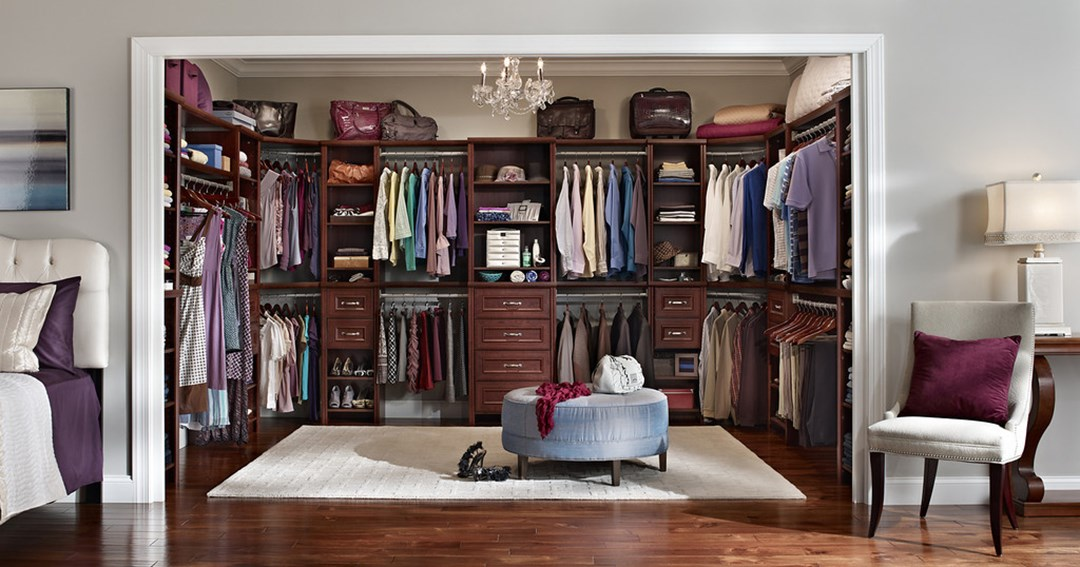 Image of: high end custom closet design