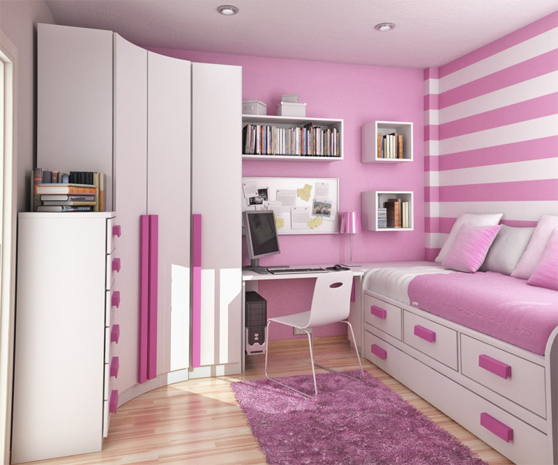 Image of: ideas for small bedrooms for teenage girl