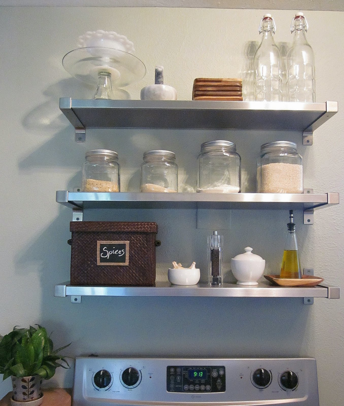 Image of: ikea open shelving for kitchen