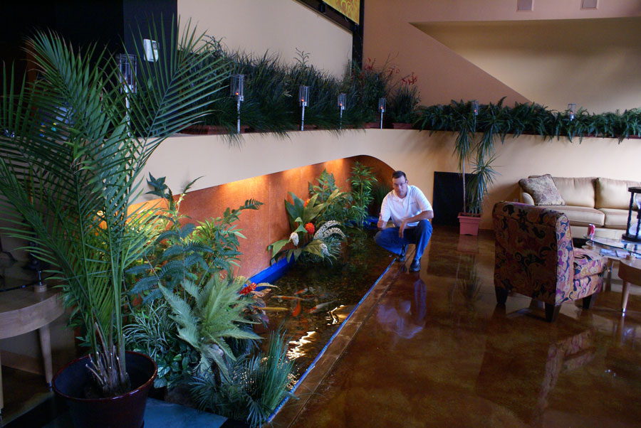 Image of: indoor koi pond designs