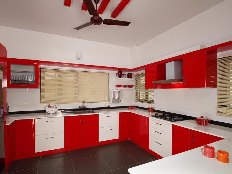 Image of: kerala model kitchen cabinets design