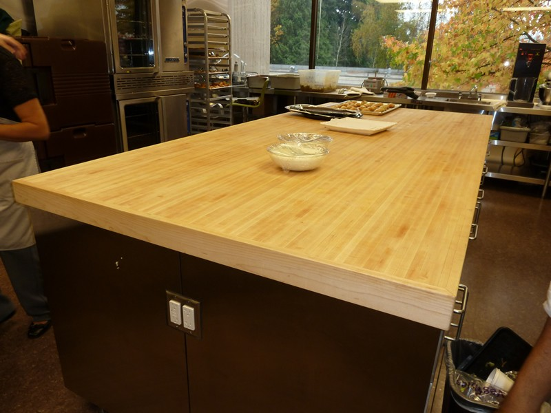 Image of: kitchen butcher block table