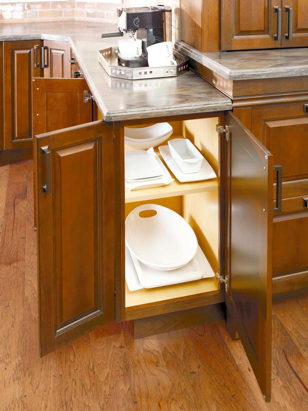 Image of: kitchen cabinets open both sides