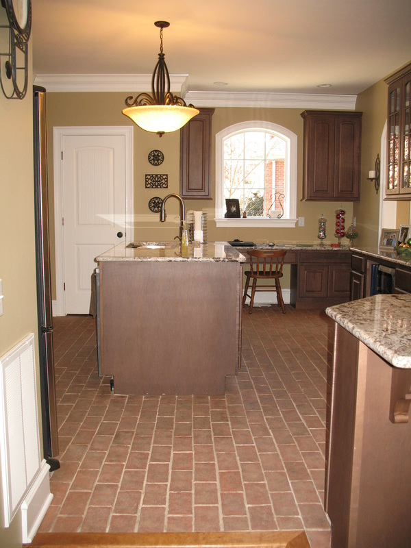 Image of: kitchen floor brick tile