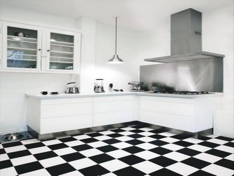 kitchen floor tiles black and white