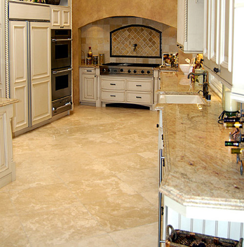 Image of: kitchen floor tiles travertine