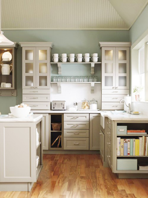 Image of: kitchen open shelving depth