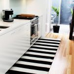 kitchen rug black and white ideas