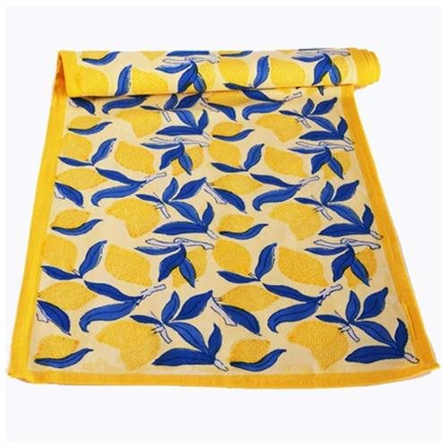 Image of: kitchen rug blue yellow