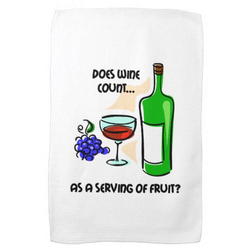 kitchen towels with wine sayings