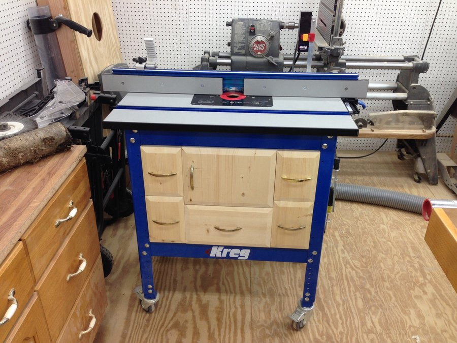 Image of: kreg router table cabinet