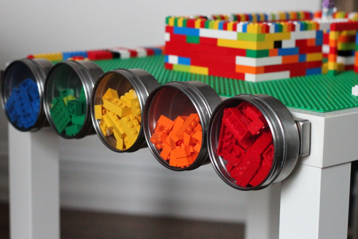 Image of: lego table diy