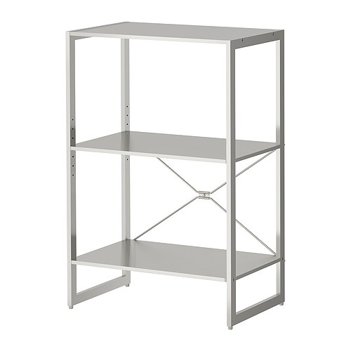 Image of: metal kitchen shelves ikea