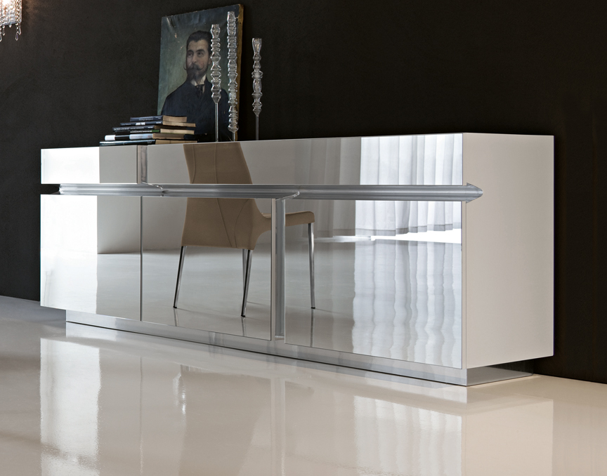 Image of: mirrored buffet console table