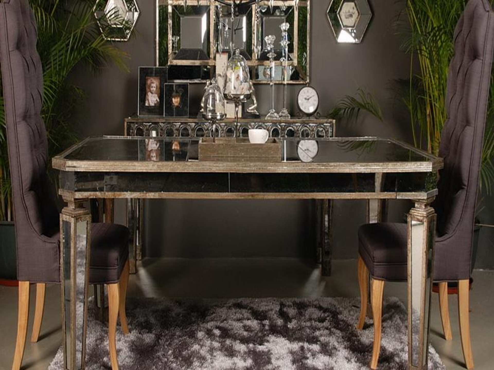 mirrored buffet table canada