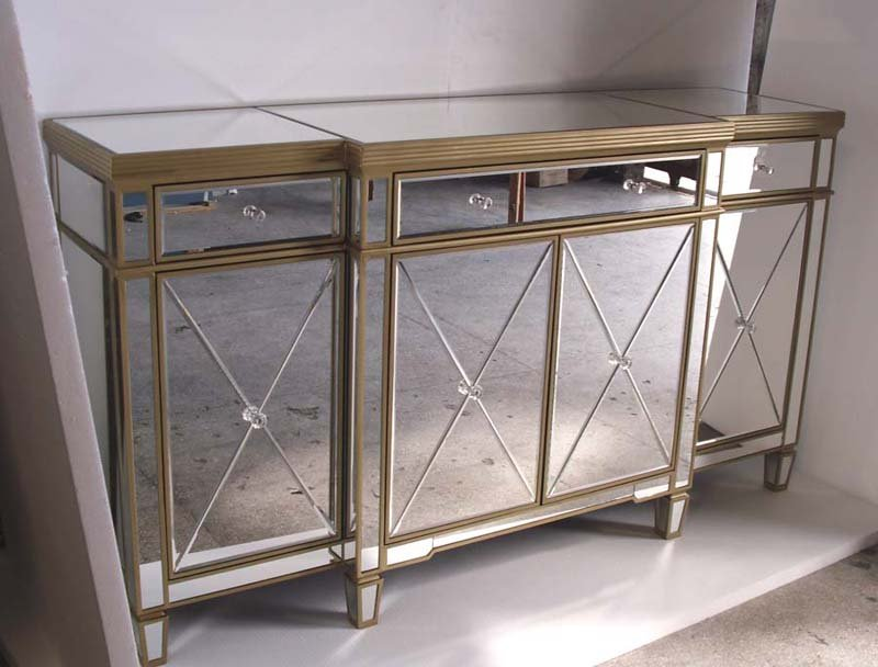 mirrored buffet table pottery barn