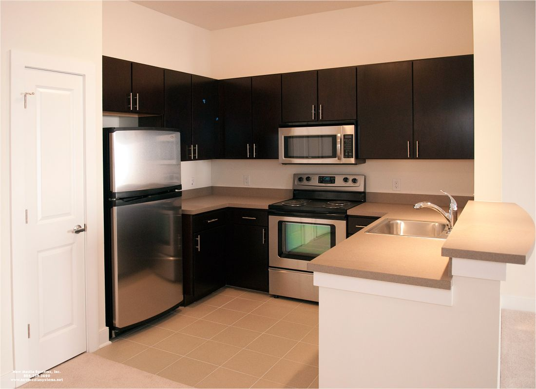 model apartment kitchens