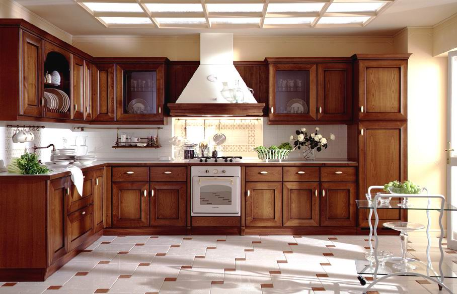 Image of: model kitchen cabinets
