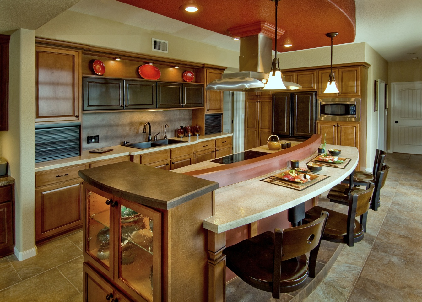 Image of: model kitchen countertops