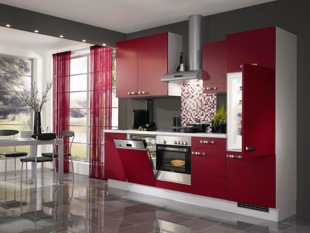 Image of: model kitchen furniture