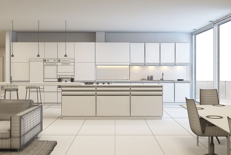 Image of: model kitchens white