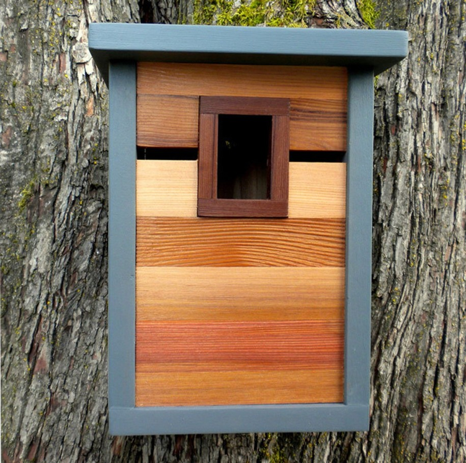 Image of: modern birdhouse designs