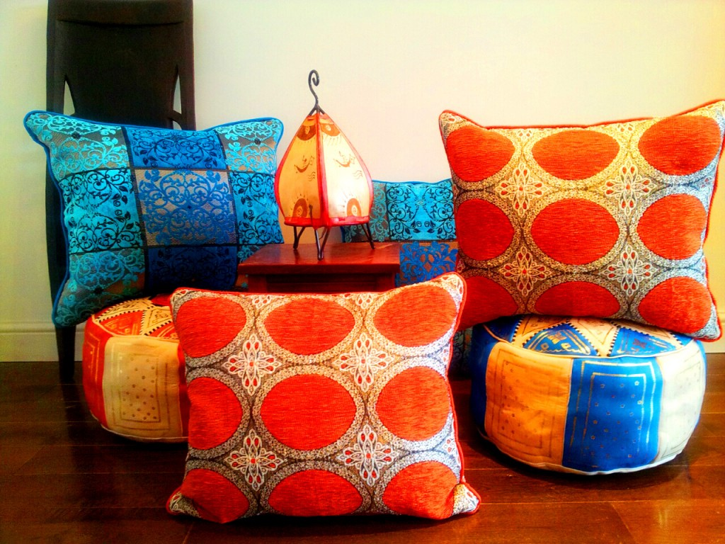 moroccan design cushions