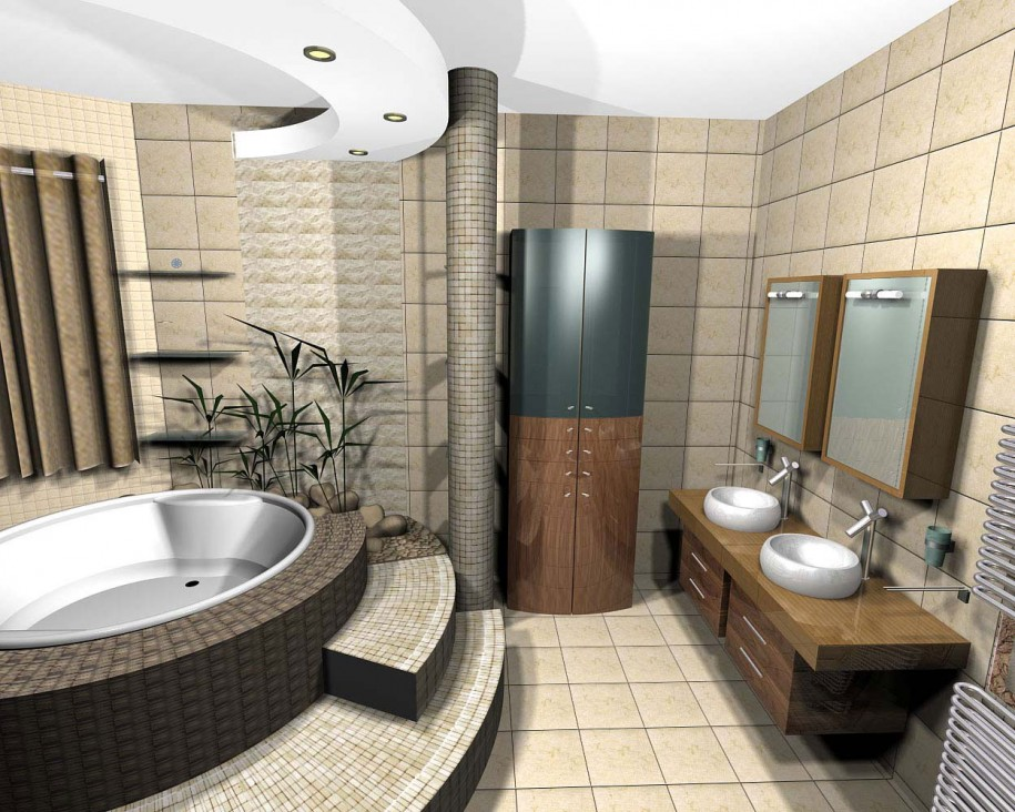 Image of: nice and simple bathroom designs